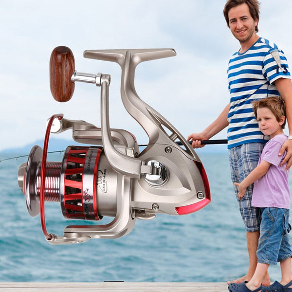 Spinning Fishing Reel CM1000-7000 Series Metal Fishing Reel 5.5:1 10BB + 1 Bearing Balls Spinning Reel Carp Fishing Wheel