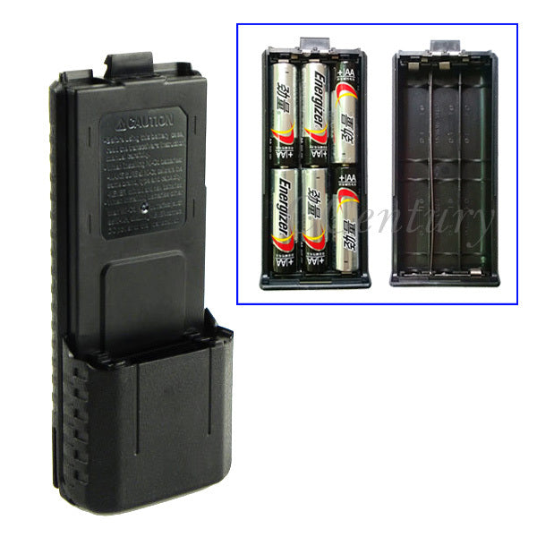 3800mAh 6xAA Battery Case Shell Black For Portable Radio Two Way Transceiver Walkie Talkie