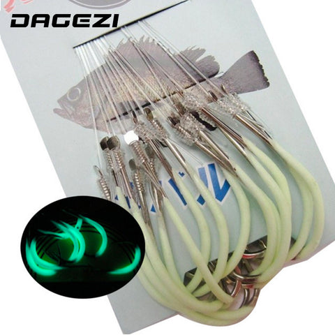 30pcs/pack Luminous Fishing Hooks