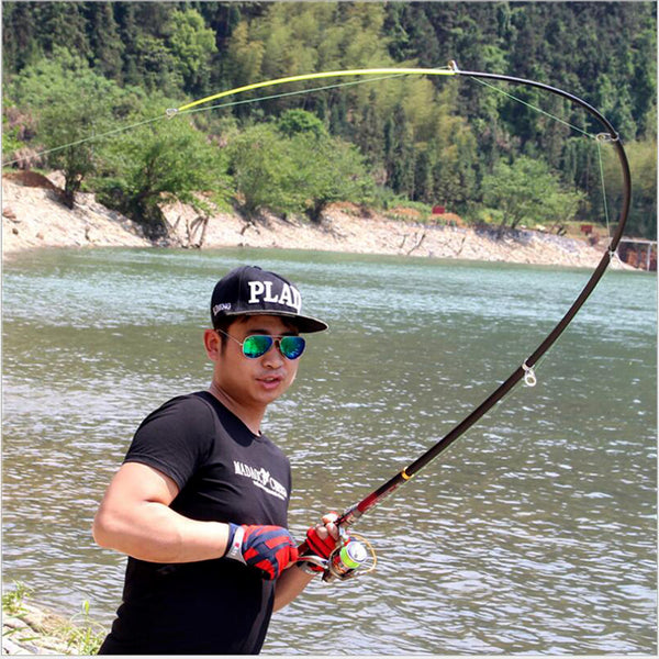 Super Hard Telescopic Fishing Rod 99% Carbon Fiber 2.1-3.6M Carbon Spinning Pole