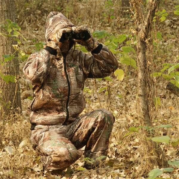 Winter Outdoor Warm Fleece Clothing - Hooded Hunting Ghillie Suit