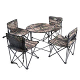 Outdoor Camping Table Four Chairs Camouflage Waterproof Cloth Folding