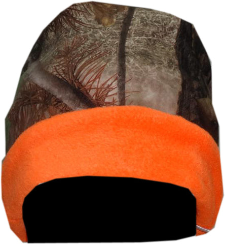 World Famous Sports Reversible Burly Camo/Orange Blaze Beanie Cap