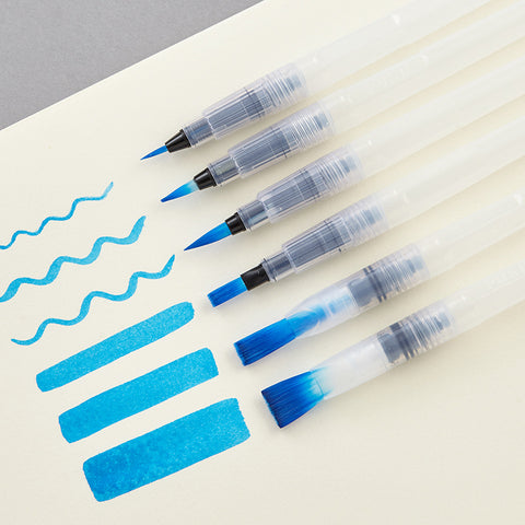 6 Pcs Refillable Paint Brush Pen