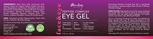 Glamology Eye Gel for Dark Circles, Puffiness, Wrinkles & Bags with Peptides, Plant Stem Cells