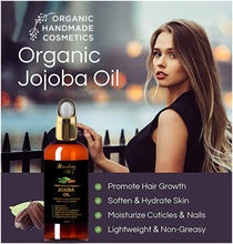 Load image into Gallery viewer, 100% Organic Jojoba Oil Infused with Neem, Turmeric & Secret Herbs 3.3 Oz