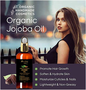 100% Organic Jojoba Oil Infused with Neem, Turmeric & Secret Herbs 3.3 Oz