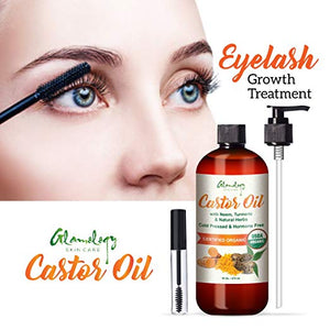 Organic Pure CASTOR OIL for Eyebrows and EyeLashes