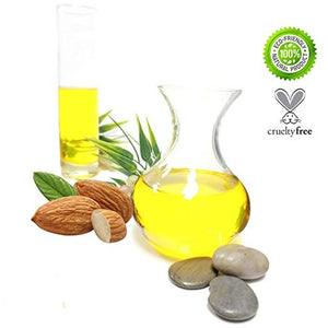 Sweet Almond Oil 100% Pure, Cold-Pressed with Herbs