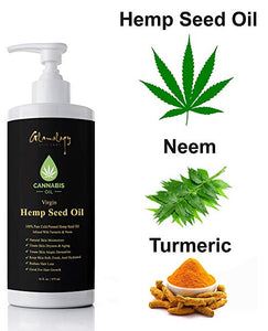 Glamology Hemp With Coconut Oil Infused With Turmeric, Neem & Ancient Herbs