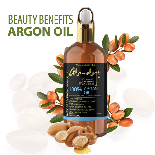 Moroccan Argan Oil Damaged Hair Face cleanser Skin Moisturizer