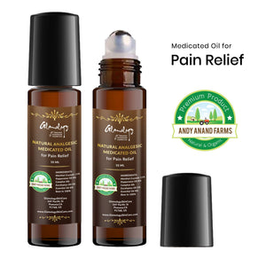Analgesic Medicated Oil for Pain Relief Muscle Aches, Backache, Arthritis, Bruises 10ML