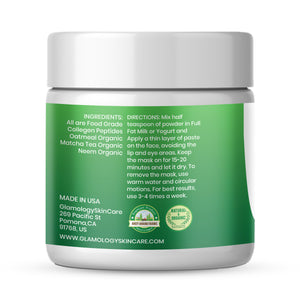 NEW Collagen Mask for Face & Neck | Anti-Aging Mask with Collagen Peptides, Oatmeal Organic, Matcha Tea, Neem Organic - Reduce Fine Lines, Wrinkles, Skin Sagging-Help Reduce Dark Circle (8 fl. oz.)
