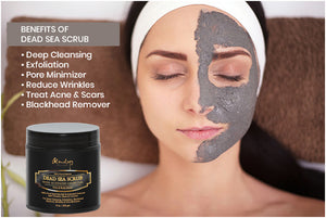 Activated Charcoal Dead Sea Body Scrub  Reduces Wrinkles