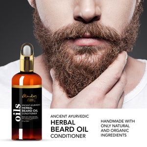 Ayurvedic Beard Oil Conditioner Softens & Strengthens