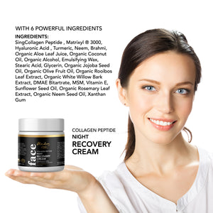 Herbal Facial Night Cream to Smooth Wrinkles, Skin Renewing