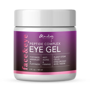 Eye Gel for Dark Circles, Puffiness, Wrinkles & Bags with Peptides, Plant Stem Cells, Neem & Hyaluronic Acid