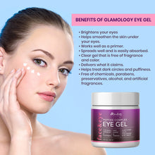 Load image into Gallery viewer, Glamology Eye Gel for Dark Circles, Puffiness, Wrinkles & Bags with Peptides, Plant Stem Cells