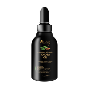 Organic Jojoba Oil Infused With Saffron, Neem, Turmeric & Secret Herbs