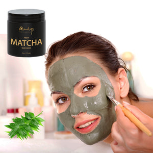 Handmade Matcha Purifying Face Mask, with Neem , Turmeric, Lemongrass, Matcha and Almond Powder