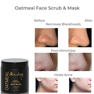 Oatmeal Face Brightening Mask for Deep Pore Cleanser