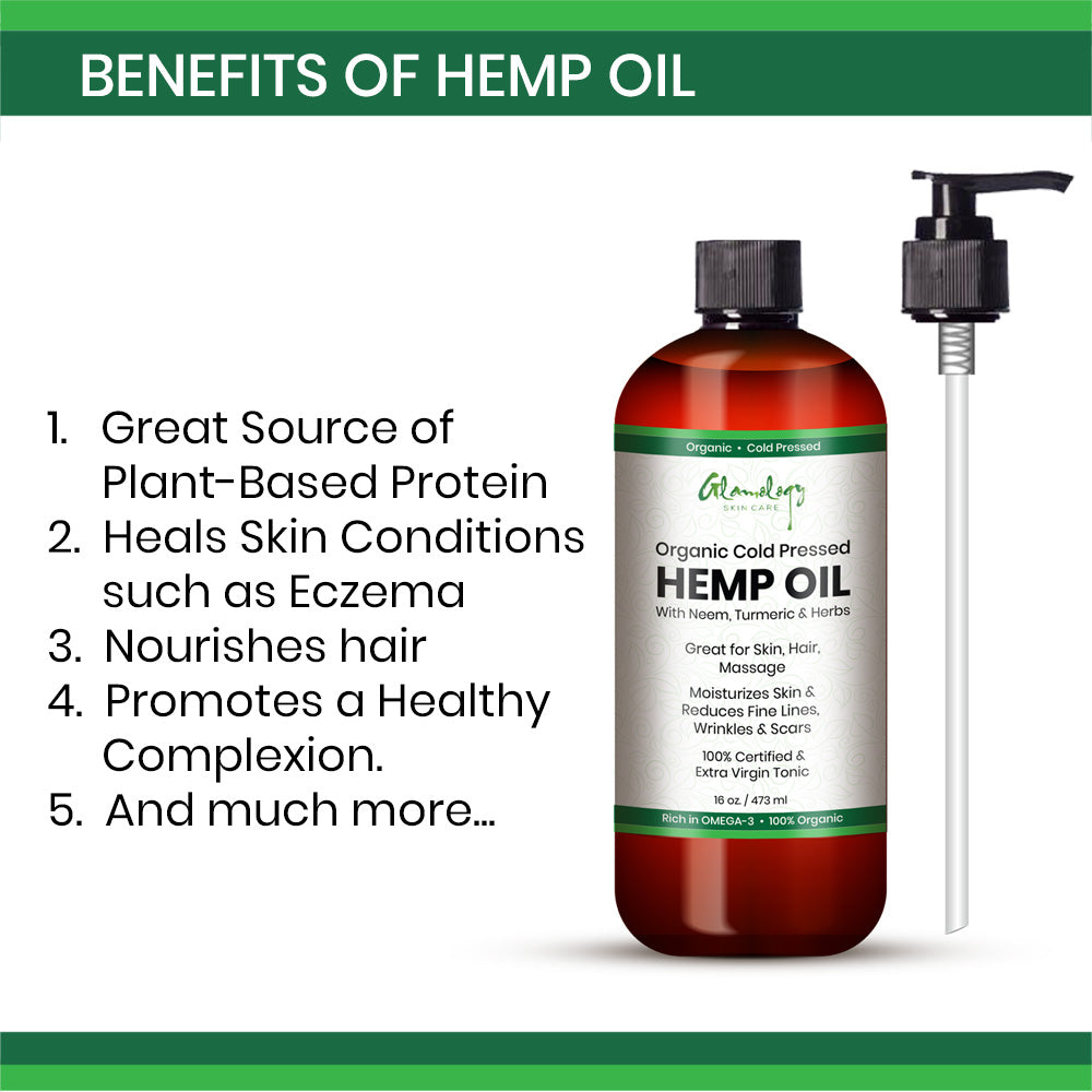 Organic Cold Pressed HEMP OIL 16 oz Great for Relieving Stress Relief
