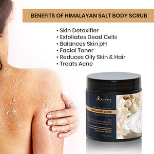 Glamology Pure Himalayan Salt Body Scrub Infused With Natural Herbs