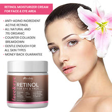 Load image into Gallery viewer, Glamology Retinol Moisturizer Cream for Face and Eye Area