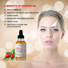 Load image into Gallery viewer, Organic Rosehip Oil. 100% Pure Unrefined best for Hair, Skin and Nails