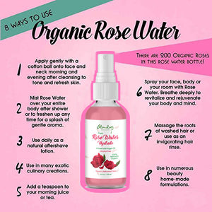 Rose Water Hydrate Face Spray with Saffron And Argan Oil