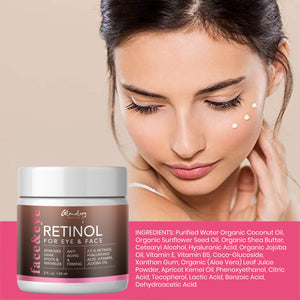 Glamology Retinol Moisturizer Cream for Face and Eye Area