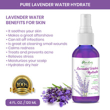 Load image into Gallery viewer, Lavender Water Hydrate alcohol free Face Spray with Neem & Saffron