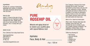 Organic Rosehip Oil. 100% Pure Unrefined best for Hair, Skin and Nails