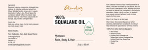 Glamology Squalane Oil (Olive Derived) - 100% Pure
