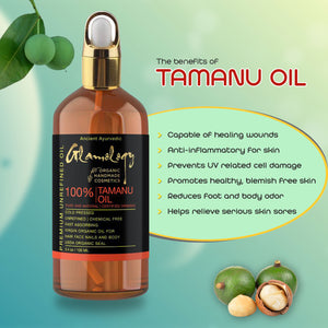 Organic Tamanu Oil for Face and Skin, Scars, Anti-Aging