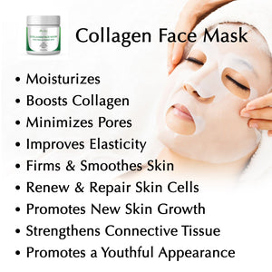 Collagen Mask Anti-Aging with Peptides, Oatmeal & Herbs
