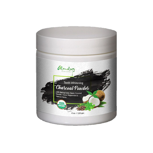 Glamology Tooth Whitener Powder With Neem, Baking Soda, Clove and Peppermint with Natural Herbs 4oz