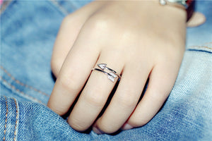 Silver Bonbon Sterling Silver Cupid Zircon Arrow Ring