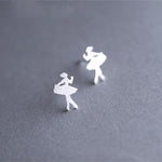 Silver Bonbon Sterling Silver Super Cute Ballet Girl Earrings