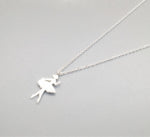 Silver Bonbon Sterling Silver Cute Dancing Ballet Girl Necklace