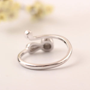 Silver Bonbon Super Cute Sterling Silver Cat Ring