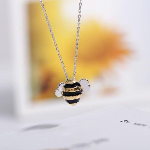 Silver Bonbon Sterling Silver Cute Bees Necklace
