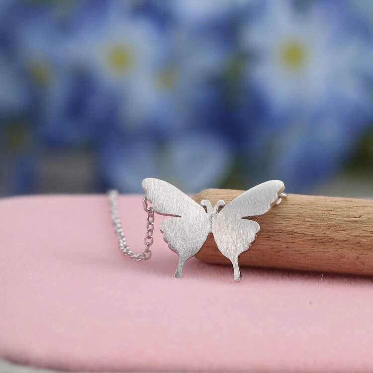 Silver Bonbon Sterling Silver Butterfly Necklace & Pendant
