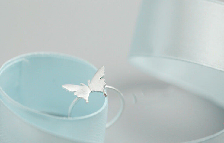 Silve Bonbon Sterling Silver  Wings Butterfly Ring