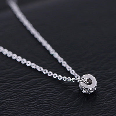 Silver Bonbon Sterling Silver Rotation Luck Beads Necklaces