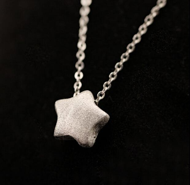 Silver Bonbon Sterling Silver  Necklaces Star Pendant Necklace