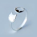 Silver Bonbon Sterling Silver Lovely Double Cat Ring