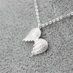 Silver Bonbon Sterling Silver Guardian Angel Wings Necklace