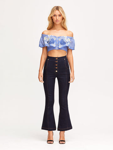 HONEYCOMB DAISY CROP TOP