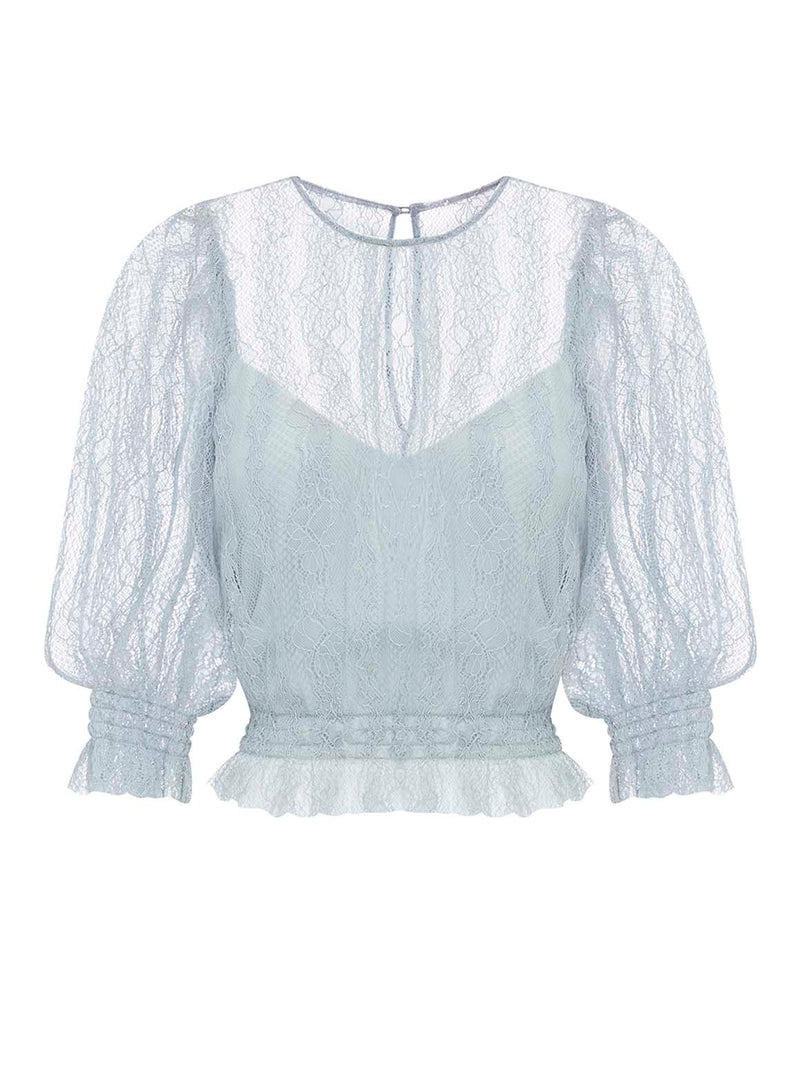 HARVEST MOON RUCHED TOP